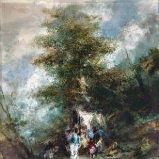 Arte: JOAN CAMO SENTIS (1920-2021) - ESCENA CAMPESTRE - ÓLEO SOBRE LIENZO. Lote 287986983