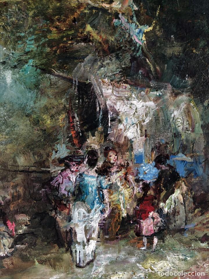 Arte: Joan Camo Sentis (1920-2021) - Escena campestre - Óleo sobre lienzo - Foto 3 - 287986983