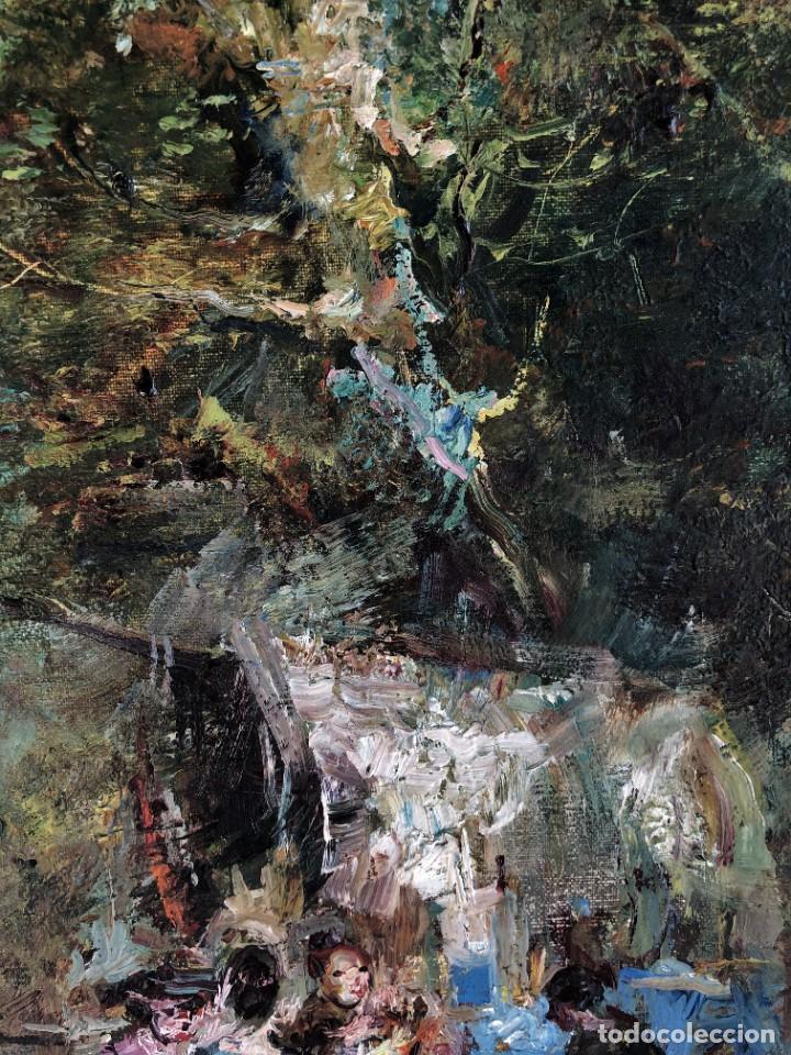 Arte: Joan Camo Sentis (1920-2021) - Escena campestre - Óleo sobre lienzo - Foto 4 - 287986983
