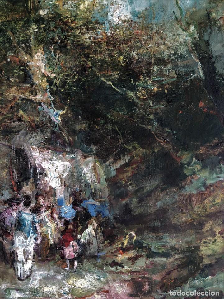 Arte: Joan Camo Sentis (1920-2021) - Escena campestre - Óleo sobre lienzo - Foto 6 - 287986983