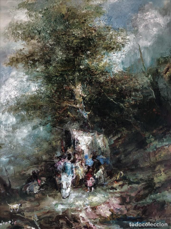 Arte: Joan Camo Sentis (1920-2021) - Escena campestre - Óleo sobre lienzo - Foto 7 - 287986983