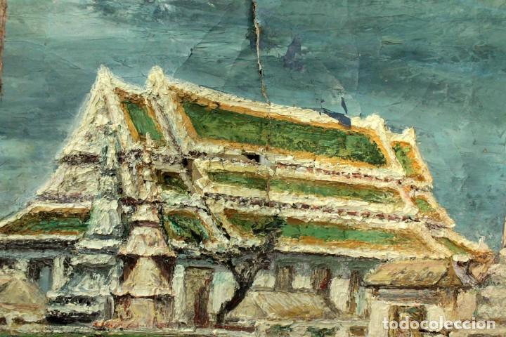 Arte: Esc. catalana primera mitad s.XX. Oleo / lienzo, anónimo, necesita restaurar. 121x95 con marco - Foto 7 - 288068888