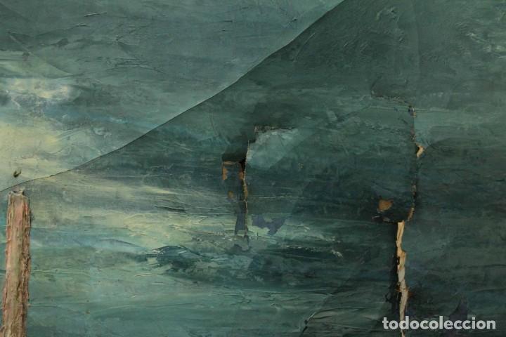 Arte: Esc. catalana primera mitad s.XX. Oleo / lienzo, anónimo, necesita restaurar. 121x95 con marco - Foto 9 - 288068888
