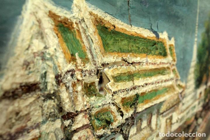 Arte: Esc. catalana primera mitad s.XX. Oleo / lienzo, anónimo, necesita restaurar. 121x95 con marco - Foto 12 - 288068888
