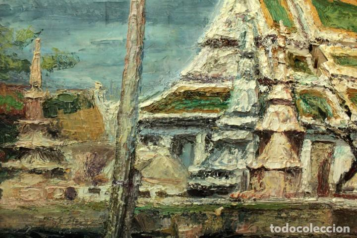 Arte: Esc. catalana primera mitad s.XX. Oleo / lienzo, anónimo, necesita restaurar. 121x95 con marco - Foto 13 - 288068888