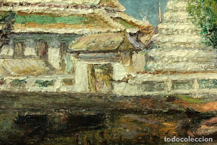 Arte: Esc. catalana primera mitad s.XX. Oleo / lienzo, anónimo, necesita restaurar. 121x95 con marco - Foto 14 - 288068888