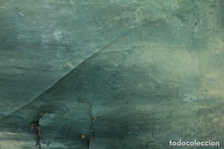 Arte: Esc. catalana primera mitad s.XX. Oleo / lienzo, anónimo, necesita restaurar. 121x95 con marco - Foto 15 - 288068888