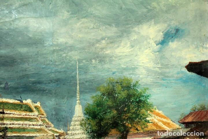 Arte: Esc. catalana primera mitad s.XX. Oleo / lienzo, anónimo, necesita restaurar. 121x95 con marco - Foto 16 - 288068888