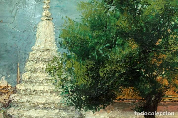 Arte: Esc. catalana primera mitad s.XX. Oleo / lienzo, anónimo, necesita restaurar. 121x95 con marco - Foto 18 - 288068888