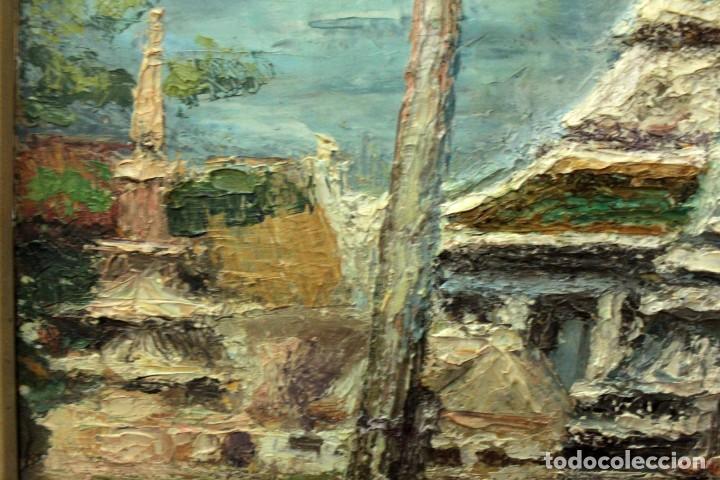 Arte: Esc. catalana primera mitad s.XX. Oleo / lienzo, anónimo, necesita restaurar. 121x95 con marco - Foto 19 - 288068888