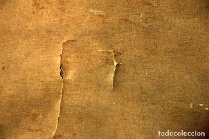 Arte: Esc. catalana primera mitad s.XX. Oleo / lienzo, anónimo, necesita restaurar. 121x95 con marco - Foto 22 - 288068888
