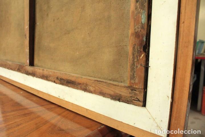 Arte: Esc. catalana primera mitad s.XX. Oleo / lienzo, anónimo, necesita restaurar. 121x95 con marco - Foto 23 - 288068888