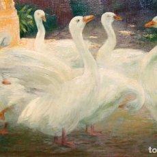 Arte: FRANCISCO PAUSAS COLL (1877 - 1944) OLEO SOBRE TELA. OCAS. 60 X 100 CM.. Lote 288103753