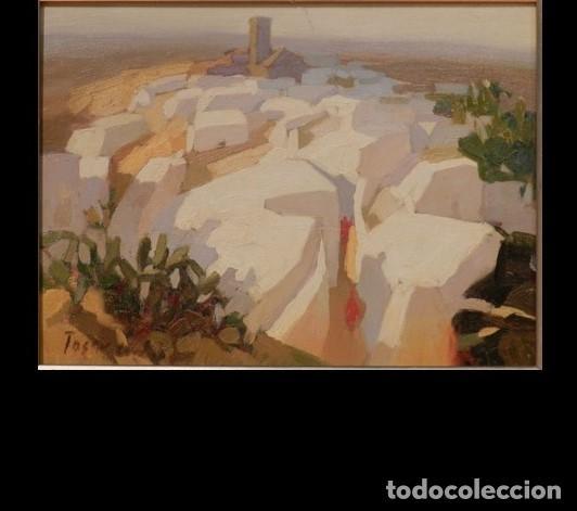 """PINTURA """"PUEBLO ANDALUZ"""", POR MANUEL TOSAR GRANADOS (Arte - Pintura - Pintura al Óleo Contemporánea )"""