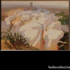 """Art: PINTURA """"PUEBLO ANDALUZ"""", POR MANUEL TOSAR GRANADOS. Lote 288150923"""