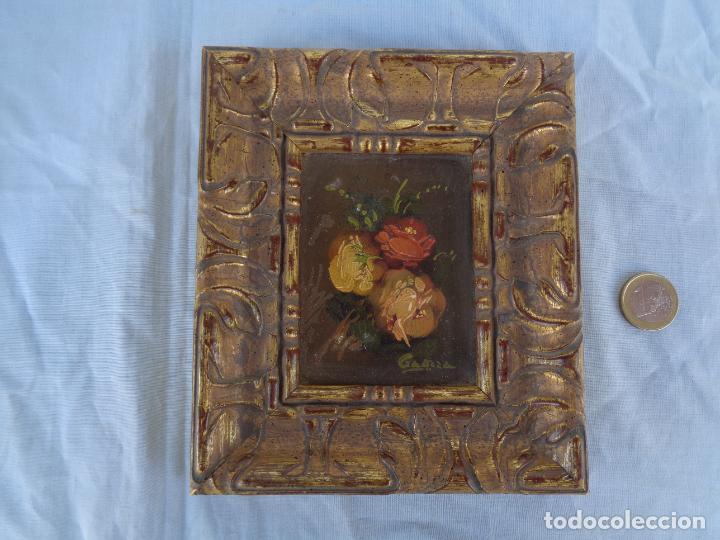 CUADRO FLORES ÓLEO SOBRE TABLA FIRMADO (Arte - Pintura - Pintura al Óleo Contemporánea )