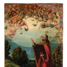 Arte: CÍRCULO DE JUAN DE FLANDES CASTILLA SIGLO XVI ÓLEO SOBRE TABLA CRISTO BENDICIENDO EL MUNDO. Lote 288457138