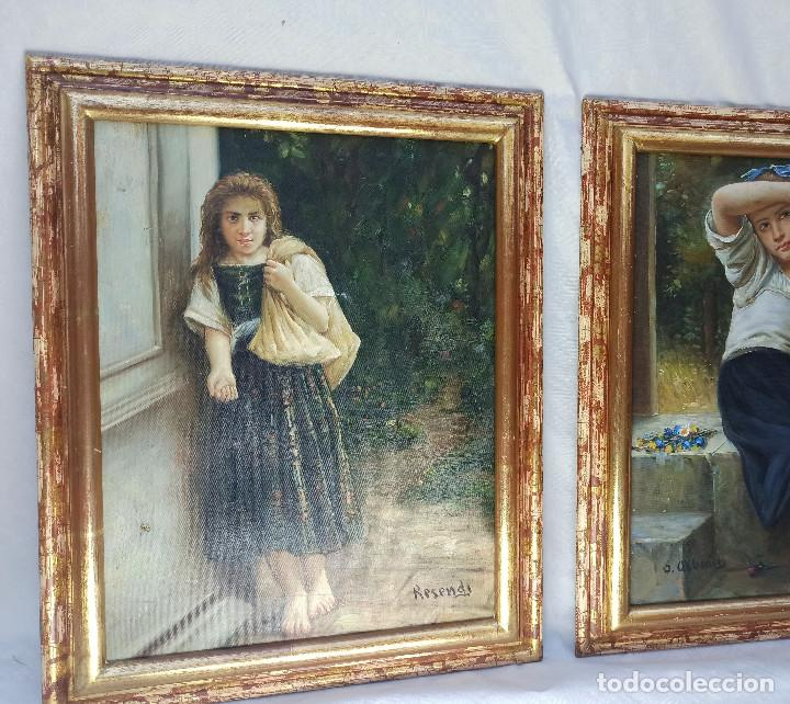 Arte: Preciosa obra oleo chica pidiendo limosna, firmado Resendi - Foto 4 - 288542058