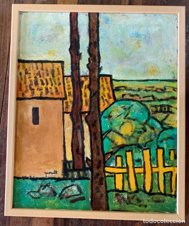 JOAN QUERALT DE QUADRAS - ÓLEO SOBRE TELA ENMARCADO MADERA 65 X 54. PAISATGE RURAL, AÑO 2016 (Arte - Pintura Directa del Autor)
