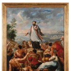 Arte: ÓLEO SOBRE LIENZO ESCUELA ESPAÑOLA SIGLO XVIII SAN FRANCISCO JAVIER PREDICANDO EN MALACA. Lote 288618373