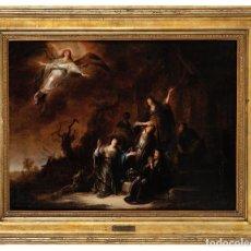 Arte: ÓLEO SOBRE TABLA FIRMADO JACOB WILLEMSZ DE WET PAÍSES BAJOS 1610 - 1675 ESCENA BÍBLICA. Lote 288662013