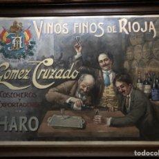 Arte: ACUARELA ORIGINAL VINOS FINOS LA RIOJA, GÓMEZ CRUZADO, COSECHEROS Y EXPORTADORES, (J MENCIA).. Lote 288663818