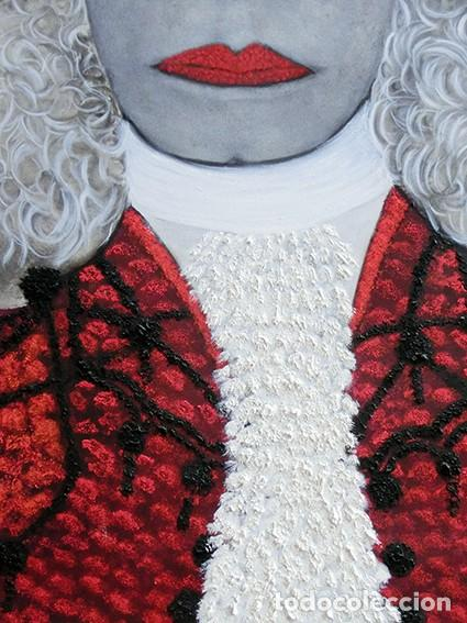 Arte: IMPRESIONANTE PINTURA - LA DUQESA TORERA - GRAN TAMAÑO - FIRMADO TÉCNICA MIXTA - ALBA - VELASCO - Foto 3 - 288686423