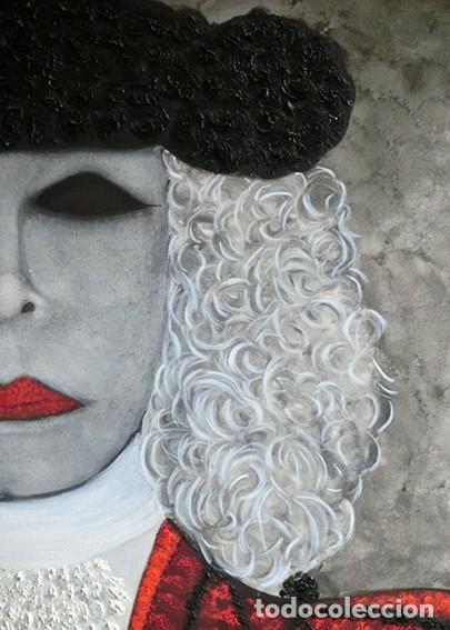 Arte: IMPRESIONANTE PINTURA - LA DUQESA TORERA - GRAN TAMAÑO - FIRMADO TÉCNICA MIXTA - ALBA - VELASCO - Foto 9 - 288686423