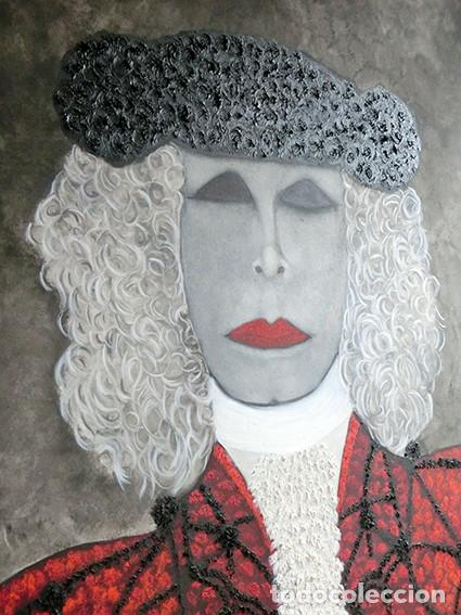 Arte: IMPRESIONANTE PINTURA - LA DUQESA TORERA - GRAN TAMAÑO - FIRMADO TÉCNICA MIXTA - ALBA - VELASCO - Foto 11 - 288686423