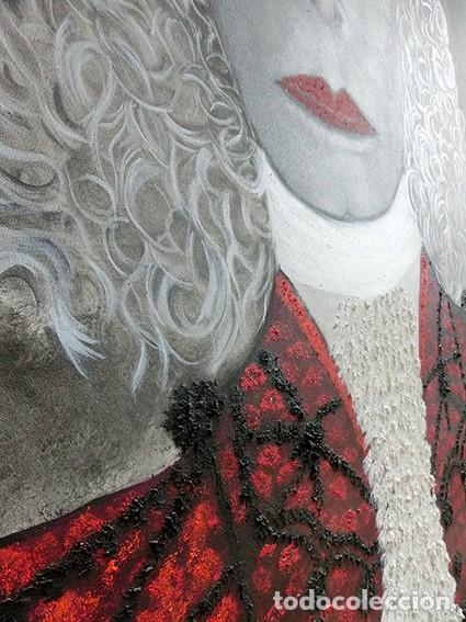 Arte: IMPRESIONANTE PINTURA - LA DUQESA TORERA - GRAN TAMAÑO - FIRMADO TÉCNICA MIXTA - ALBA - VELASCO - Foto 13 - 288686423