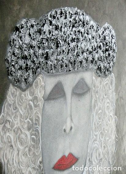Arte: IMPRESIONANTE PINTURA - LA DUQESA TORERA - GRAN TAMAÑO - FIRMADO TÉCNICA MIXTA - ALBA - VELASCO - Foto 15 - 288686423