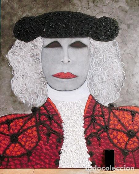 Arte: IMPRESIONANTE PINTURA - LA DUQESA TORERA - GRAN TAMAÑO - FIRMADO TÉCNICA MIXTA - ALBA - VELASCO - Foto 22 - 288686423