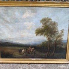 Arte: PAREJA DE PAISAJES SIGLO XVIII - XIX, LIENZO. Lote 288867623