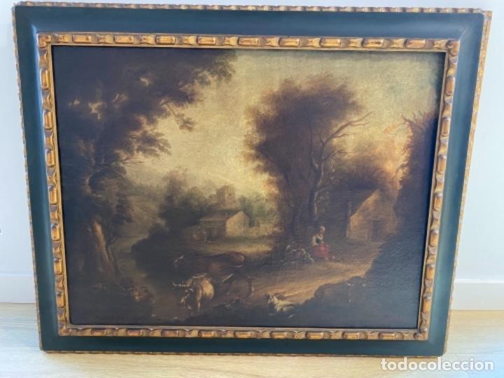 PAREJA DE PAISAJES SIGLO XVIII - XIX, LIENZOS (Arte - Pintura - Pintura al Óleo Antigua siglo XVIII)