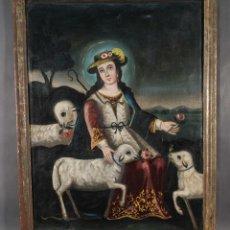 Arte: ÓLEO SOBRE LIENZO DIVINA PASTORA SIGLO XVIII. Lote 289005273