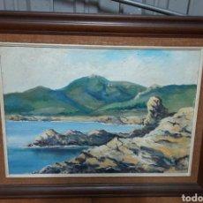 Arte: PINTURA Y CUADRO DOBLE MARCO. Lote 289198023