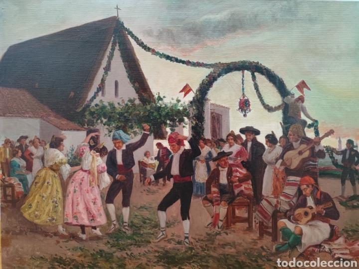 PINTURA COSTUMBRISTA ESCUELA VALENCIANA XIX (Arte - Pintura - Pintura al Óleo Moderna siglo XIX)