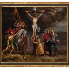 Arte: ÓLEO COBRE CALVARIO ATRIBUIDO A PETER VAN LINT AMBERES 1609 - 1690. Lote 289272888