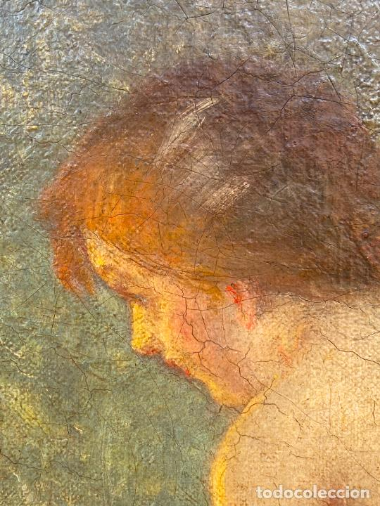 Arte: Albert Auguste Fourié , pintura al óleo sobre lienzo , french artist , - Foto 3 - 289411048