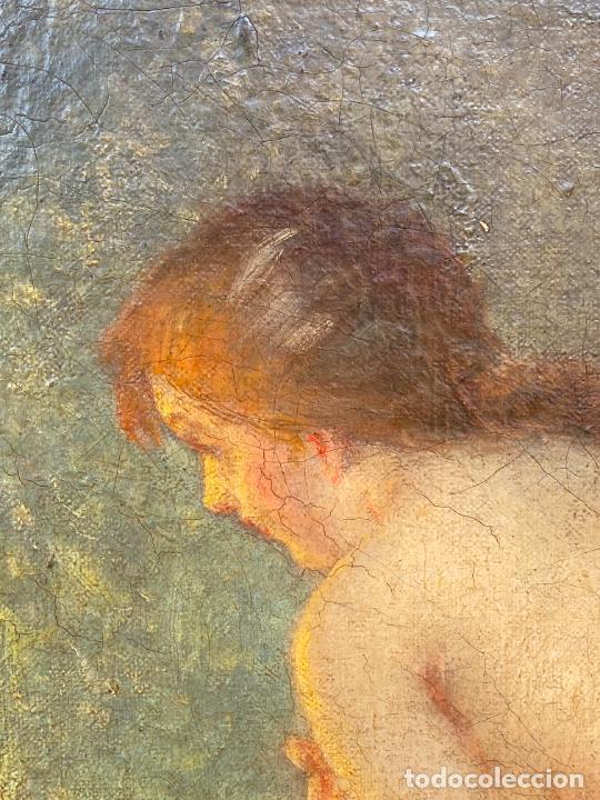 Arte: Albert Auguste Fourié , pintura al óleo sobre lienzo , french artist , - Foto 5 - 289411048