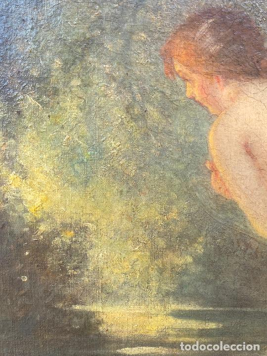 Arte: Albert Auguste Fourié , pintura al óleo sobre lienzo , french artist , - Foto 6 - 289411048