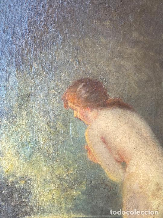 Arte: Albert Auguste Fourié , pintura al óleo sobre lienzo , french artist , - Foto 7 - 289411048