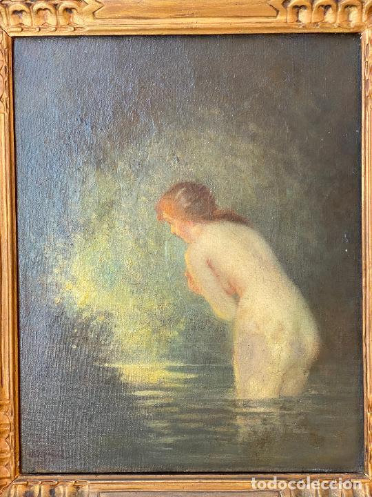 Arte: Albert Auguste Fourié , pintura al óleo sobre lienzo , french artist , - Foto 9 - 289411048