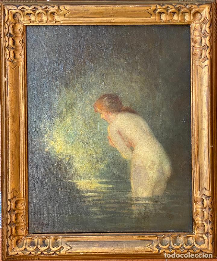 Arte: Albert Auguste Fourié , pintura al óleo sobre lienzo , french artist , - Foto 10 - 289411048