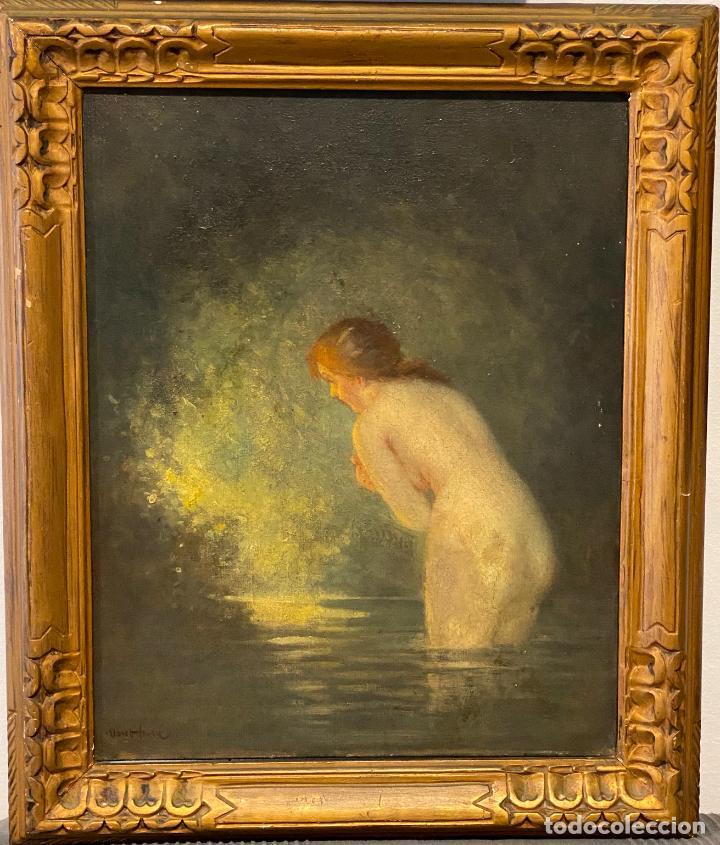 ALBERT AUGUSTE FOURIÉ , PINTURA AL ÓLEO SOBRE LIENZO , FRENCH ARTIST , (Arte - Pintura - Pintura al Óleo Moderna siglo XIX)