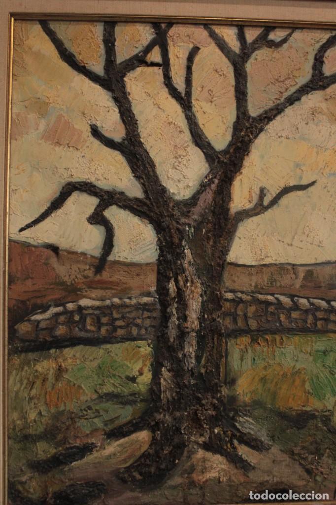 Arte: Escuela expresionista, mediados s.XX. Grosor capa de pintura, desconozco firma 81x66 con marco - Foto 2 - 289475093