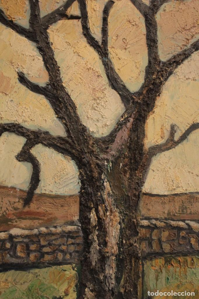 Arte: Escuela expresionista, mediados s.XX. Grosor capa de pintura, desconozco firma 81x66 con marco - Foto 3 - 289475093