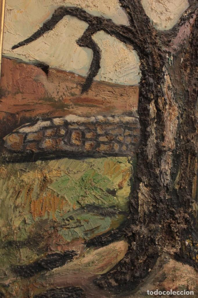 Arte: Escuela expresionista, mediados s.XX. Grosor capa de pintura, desconozco firma 81x66 con marco - Foto 4 - 289475093