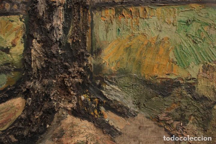 Arte: Escuela expresionista, mediados s.XX. Grosor capa de pintura, desconozco firma 81x66 con marco - Foto 6 - 289475093