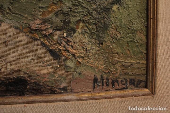 Arte: Escuela expresionista, mediados s.XX. Grosor capa de pintura, desconozco firma 81x66 con marco - Foto 8 - 289475093